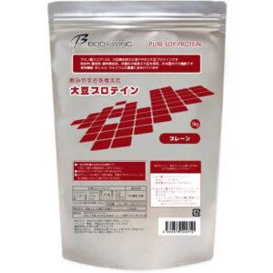 ボディウイング 大豆プロテイン 1kg 無添加 飲みやすいソイプロテイン
